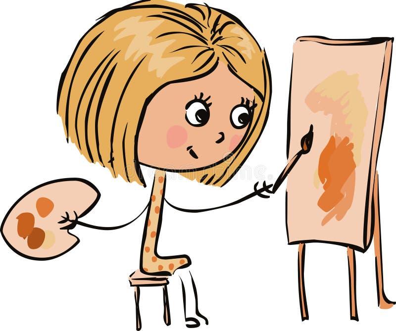 flickamålningsvektor stock illustrationer