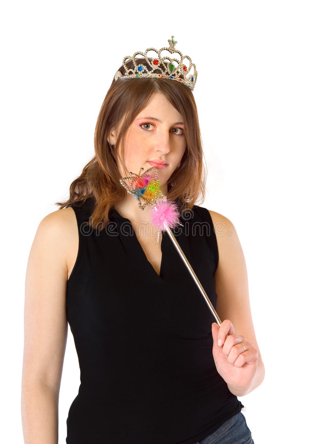 flickamagiwand royaltyfria bilder