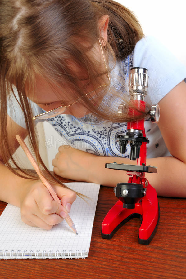flickamikroskop något som studerar arkivfoto