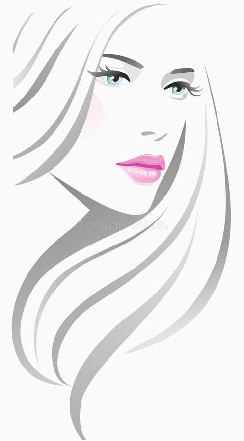Flickamode royaltyfri illustrationer