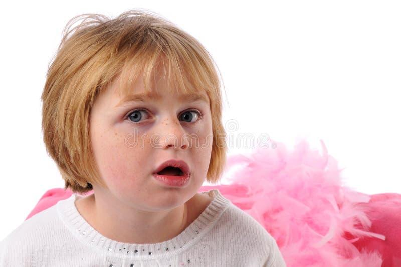 flickan behöver pecial arkivfoto