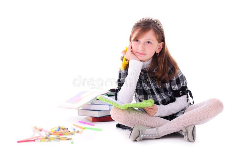 Flickan drömm arkivfoton