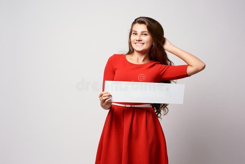 flickan med undertecknar mall Stolthet av föräldrar royaltyfria foton