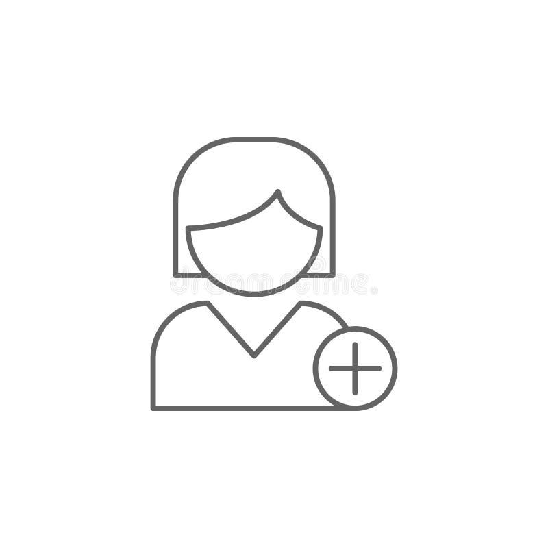 flickan tillfogar vänöversiktssymbolen Beståndsdelar av kamratskaplinjen symbol Tecknet, symboler och s kan användas för rengörin vektor illustrationer