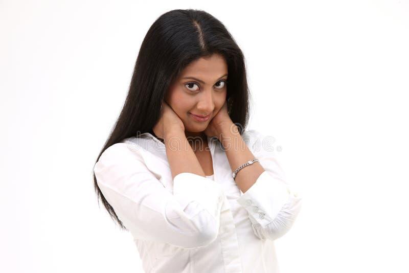 flickaskjorta som plattforer tonårs- white arkivfoton