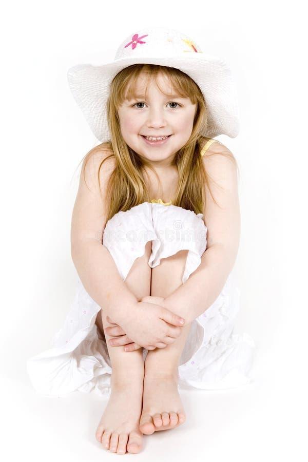 flickasommar arkivbilder