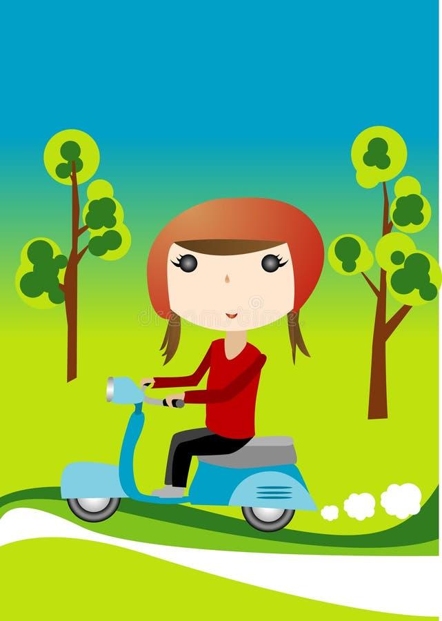 flickasparkcykel vektor illustrationer