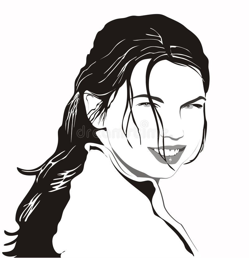 Download Flickastående vektor illustrationer. Illustration av kvinna - 512768