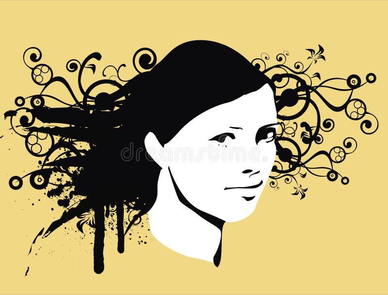 flickatappning vektor illustrationer