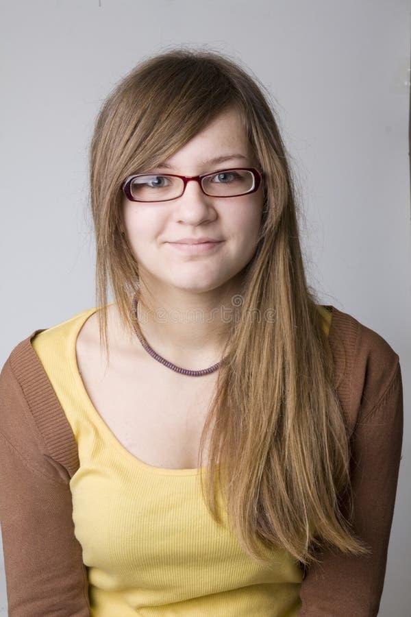 flickatonåring arkivfoton