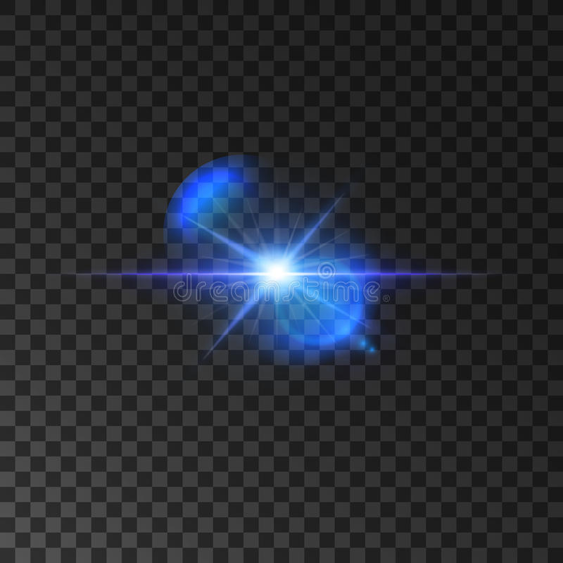 Flickering blue light flash of shining star vector illustration