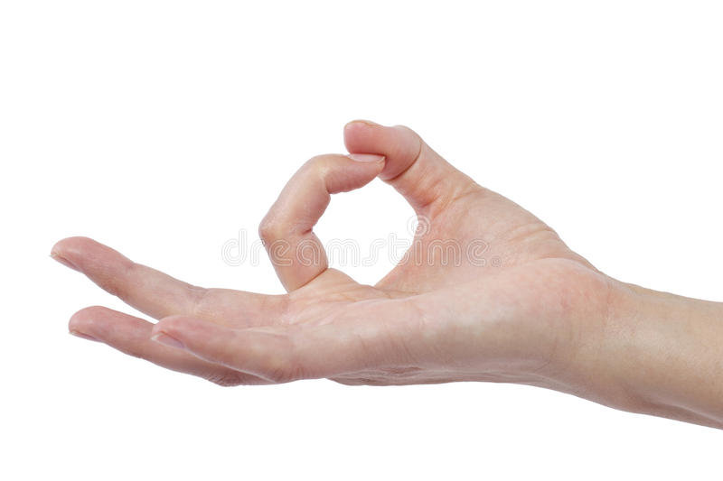 Flicking. Close up of female human hand flicking for composites royalty free stock photo