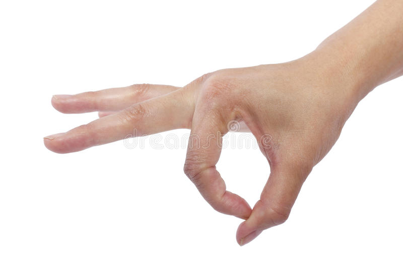 Flicking. Close up of female human hand flicking for composites royalty free stock images