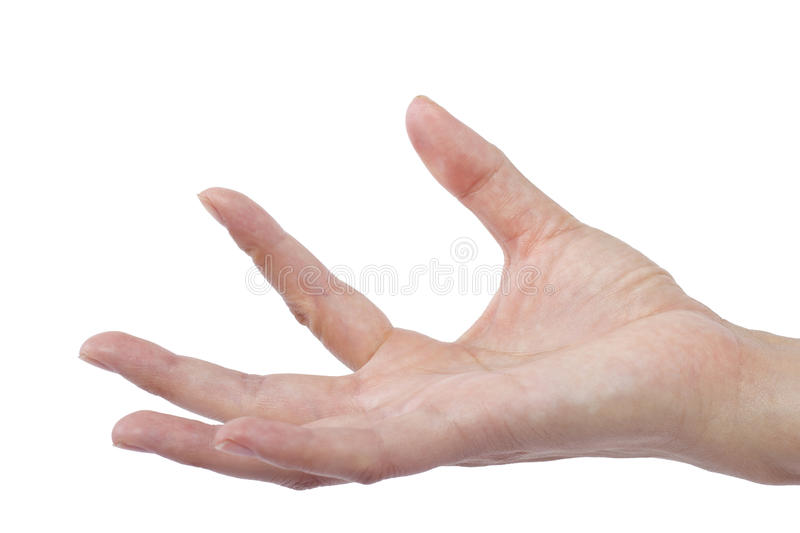 Flicking. Close up of female human hand flicking for composites stock images