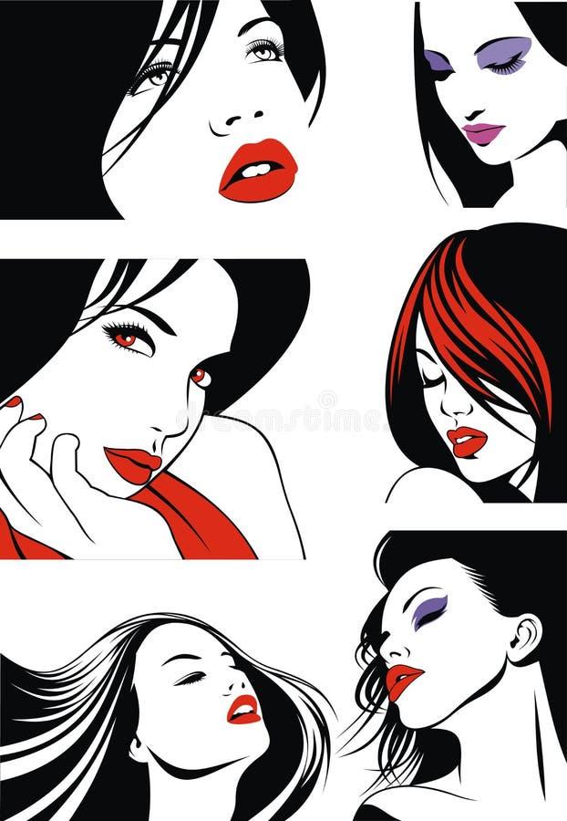 Flickor från min dröm vektor illustrationer