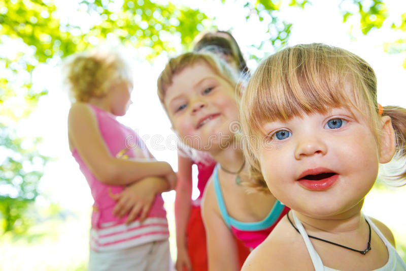 flickor little arkivfoto