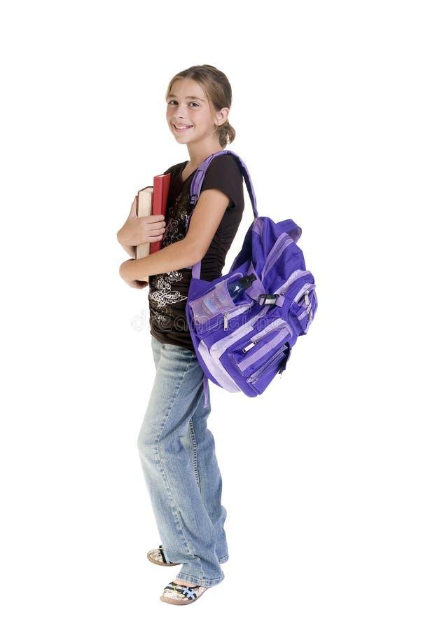 flickor school tonårs- royaltyfri foto