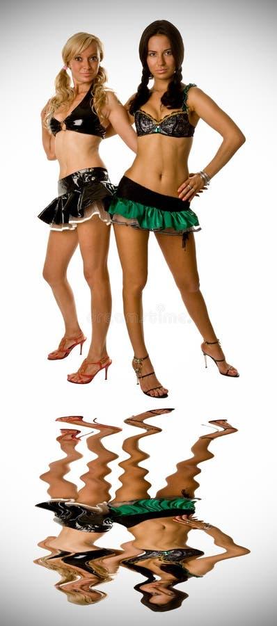 flickor sexiga två fotografering för bildbyråer