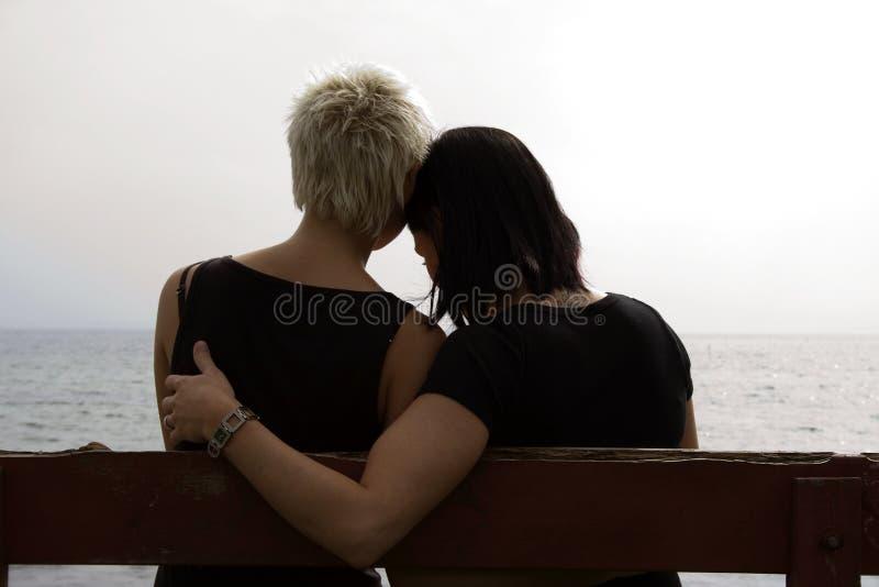 flickor två arkivfoton