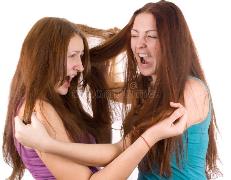 flickvänner två arkivbild