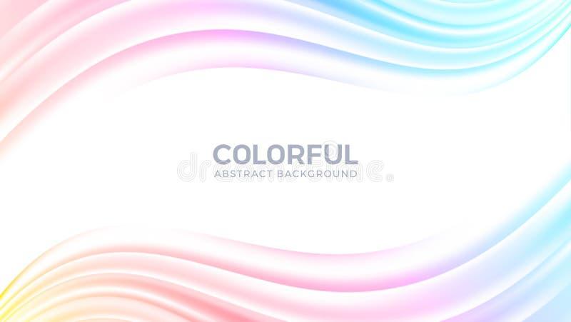 Fließen abstrakter bunter Hintergrund Kreativer moderner dynamischer Wellenhintergrund Modischer Steigungsform-Vektorhintergrund  lizenzfreie abbildung