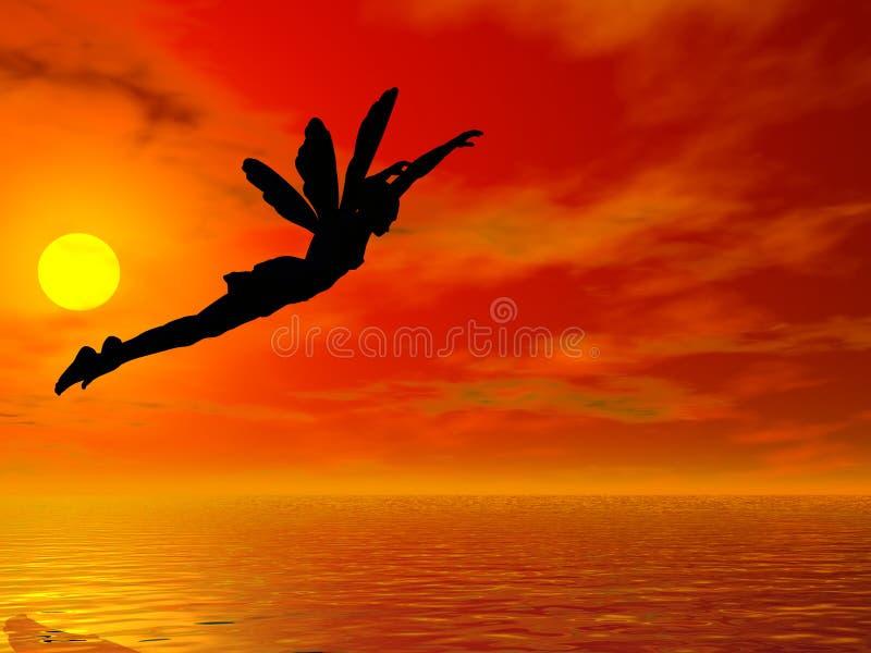 Fliege hinter dem Sun lizenzfreie abbildung