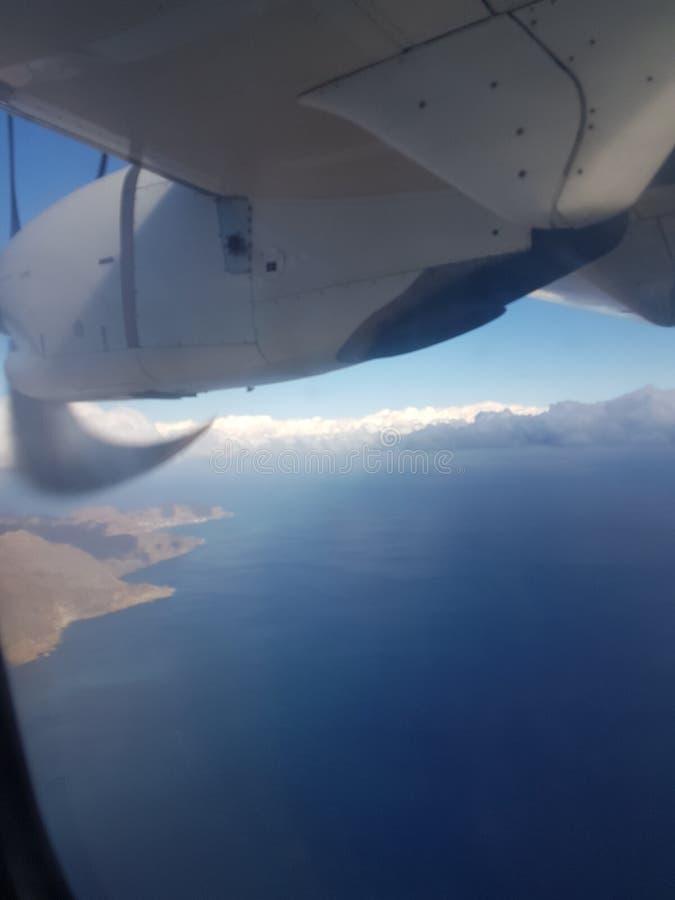 Fliegen über Charrane in Nord-Afrika stockfotografie