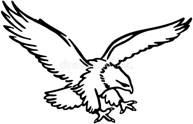 Fliegen Eagle stock abbildung