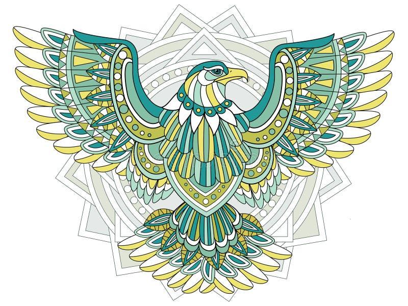 Fliegen Eagle lizenzfreie abbildung