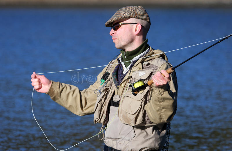 Fliegen-Fischer stockfoto