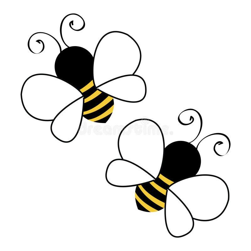 Fliegen mit zwei Bienen lizenzfreie abbildung