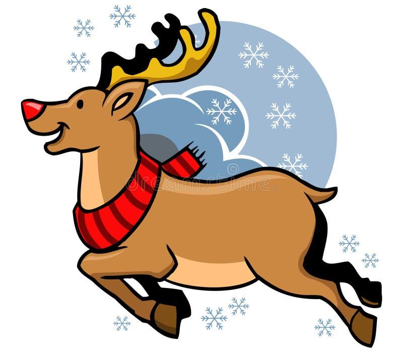 Fliegen Rudolph Red Nosed stock abbildung