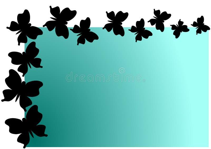 Fliegen-Schmetterlings-Schatten-Einladungs-Karte lizenzfreie abbildung