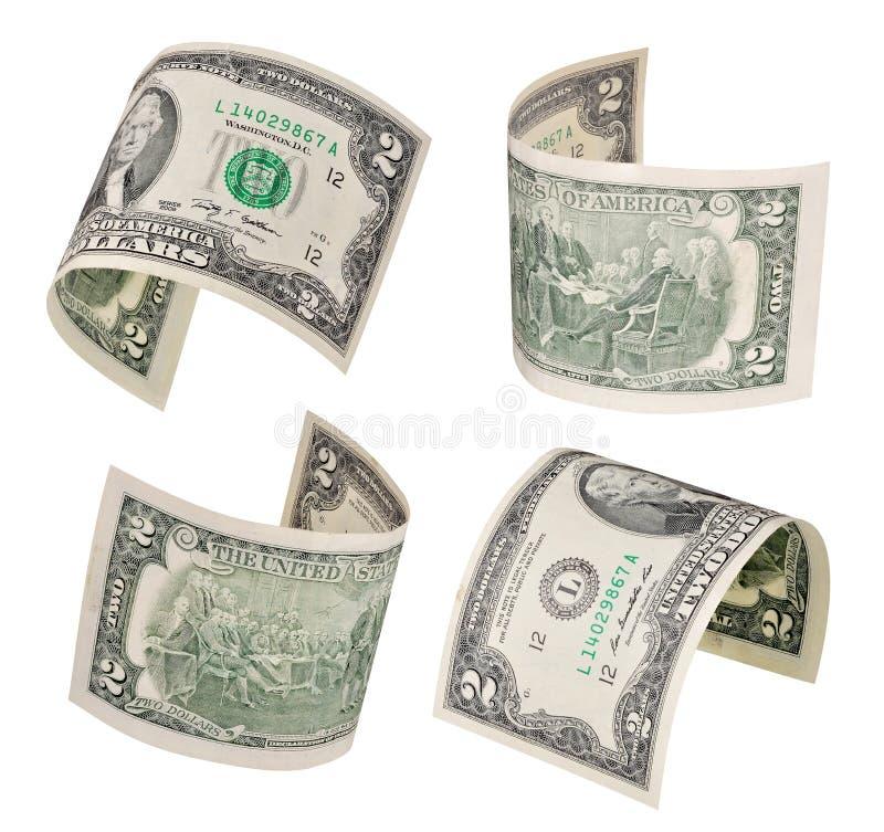 Fliegen von zwei Dollar lizenzfreie stockbilder