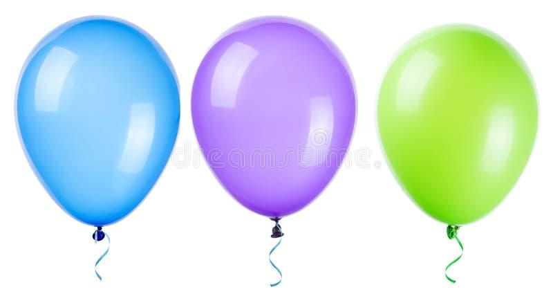 Fliegenballone lokalisiert lizenzfreie stockbilder