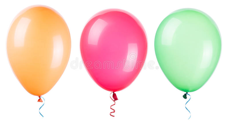 Fliegenballone lokalisiert lizenzfreie stockfotografie