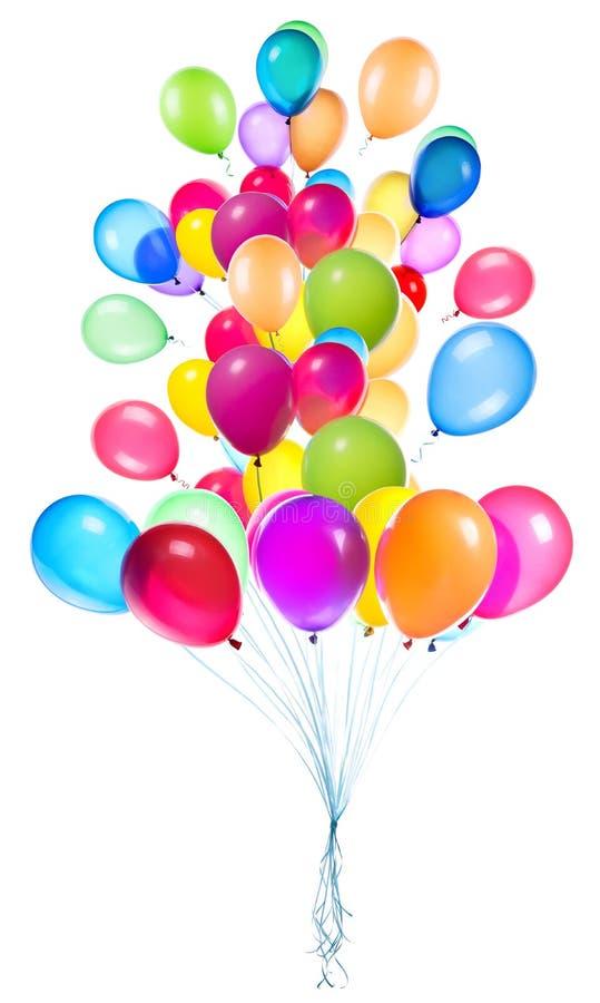 Fliegenballone lokalisiert lizenzfreies stockfoto