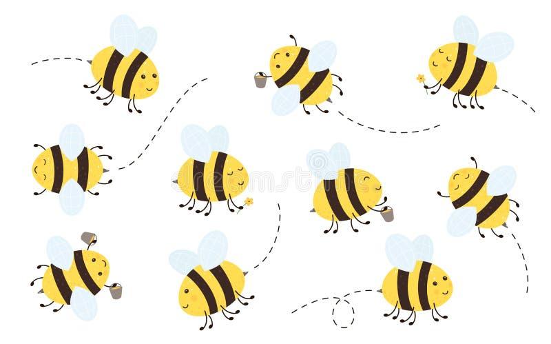 Fliegenbienen lizenzfreie abbildung