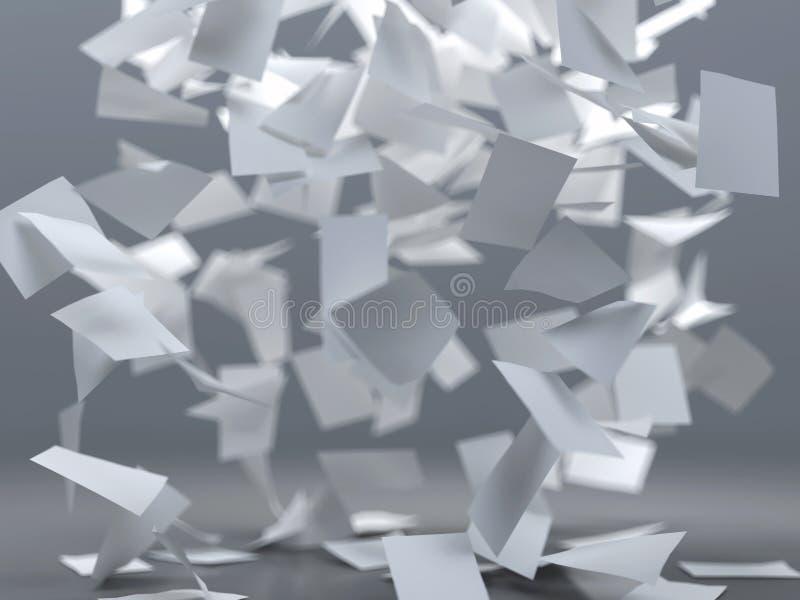 Fliegenblätter papier lizenzfreie abbildung