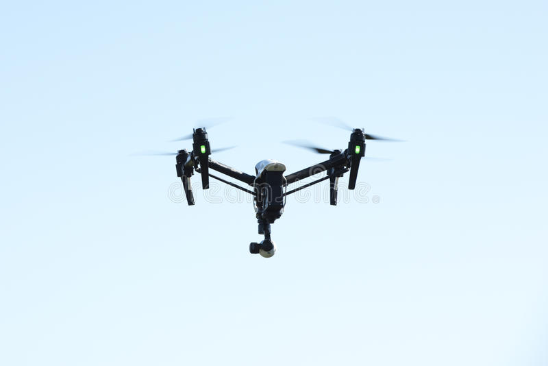 Fliegenbrummen mit Kamera lizenzfreie stockbilder