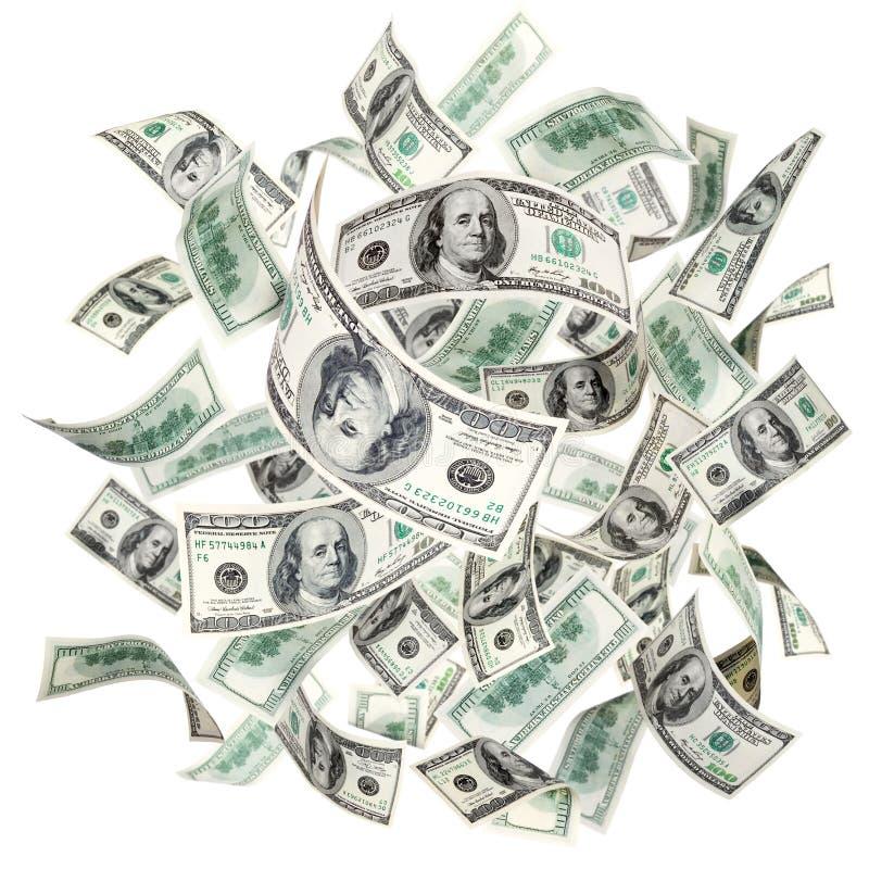 Fliegende amerikanische Dollar lizenzfreie stockbilder