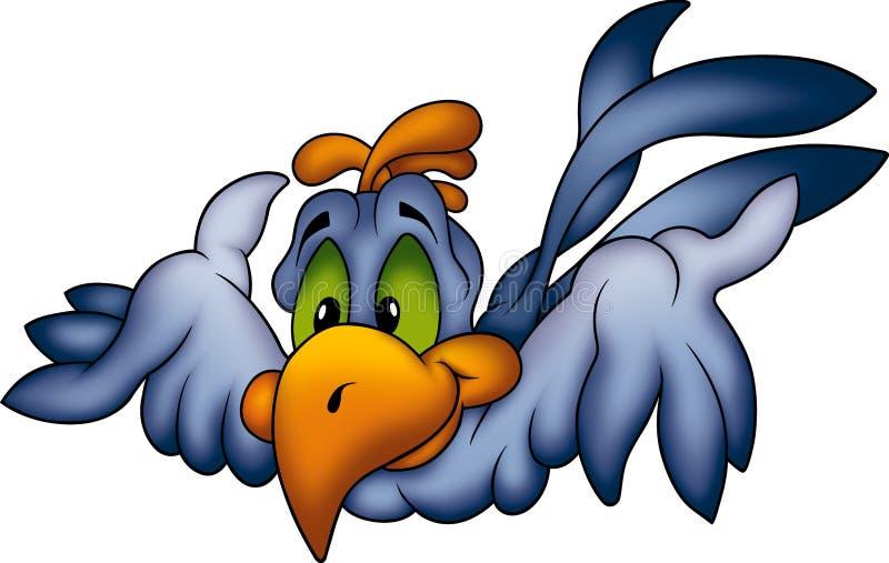 Fliegender blauer Papagei stock abbildung