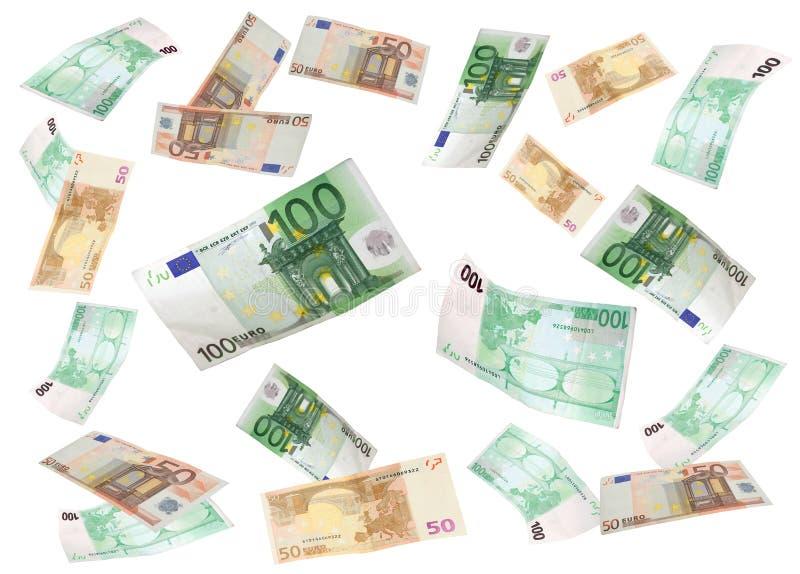 Fliegender Euro lizenzfreie stockfotos