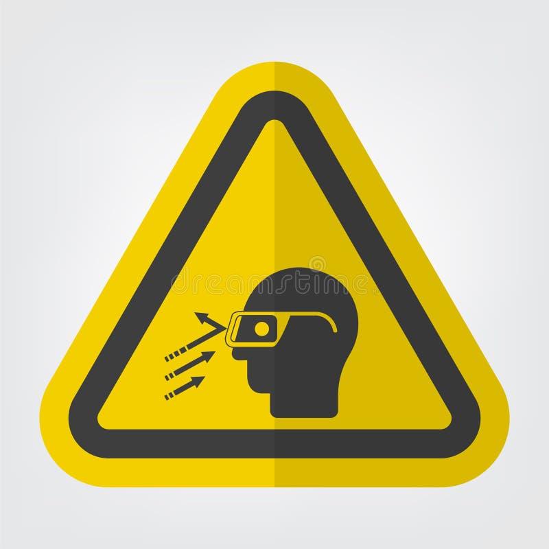 Fliegender Rückstand-Abnutzungs-Sicherheitsglas-Symbol-Zeichen-Isolat auf weißem Hintergrund, Vektor-Illustration ENV 10 vektor abbildung