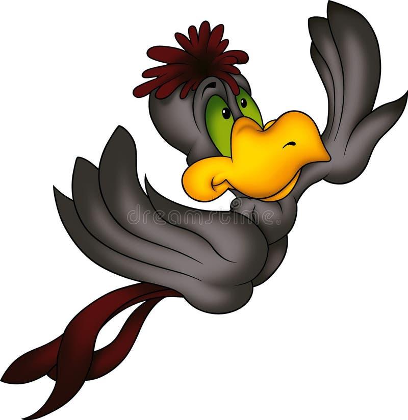 Fliegender schwarzer Macaw vektor abbildung