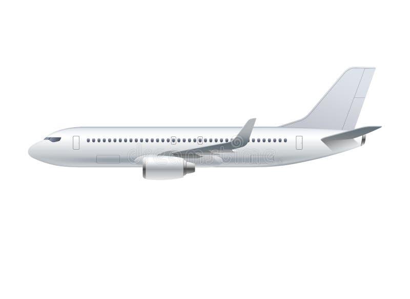 Fliegenflugzeug, Düsenflugzeug, Passagierflugzeug stock abbildung