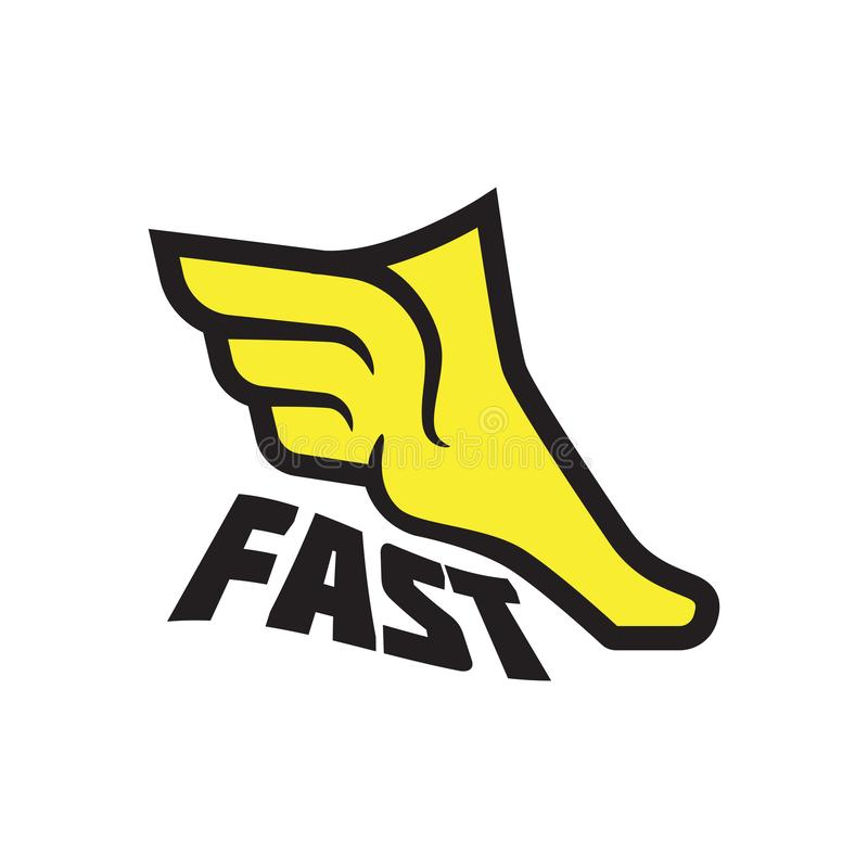 Fliegenfuß, Geschwindigkeit und Energie, Mythologie lizenzfreie abbildung
