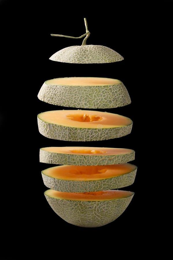 Fliegenscheibe der Melone Lokalisiert und Beschneidungspfad stockfoto