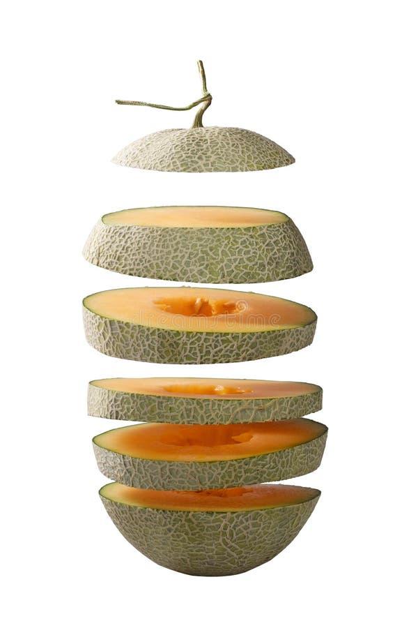 Fliegenscheibe der Melone Lokalisiert und Beschneidungspfad lizenzfreies stockbild