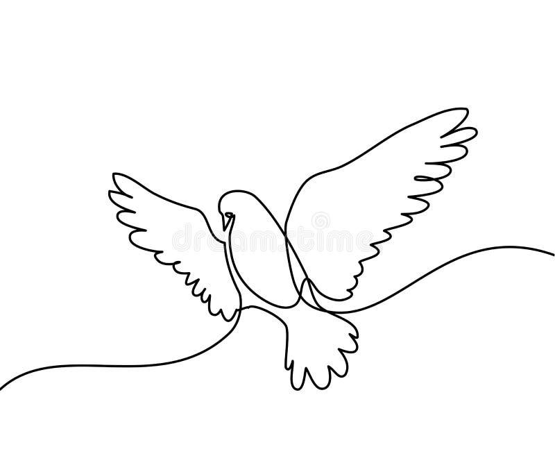 Fliegentaubenlogo stock abbildung